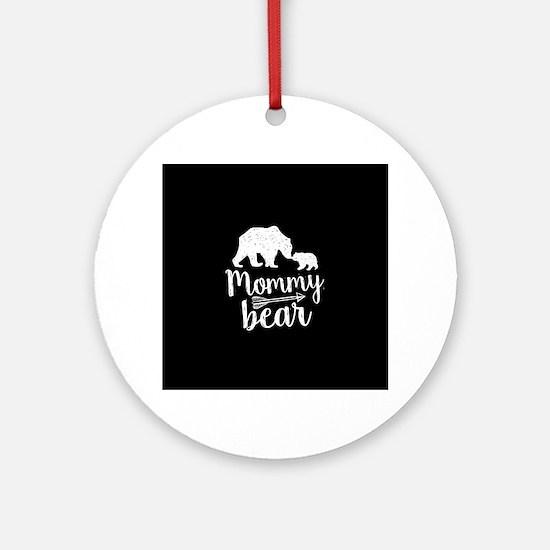 Mommy Bear Round Ornament