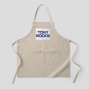 tony rocks BBQ Apron