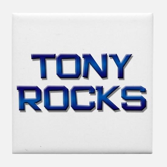 tony rocks Tile Coaster