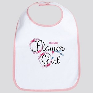 Flower Girl Custom Cotton Baby Bib