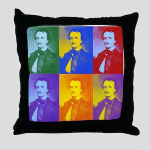 Pop Art Poe Throw Pillow