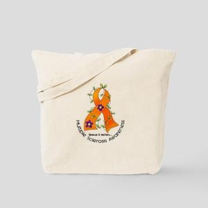 Flower Ribbon MS Tote Bag