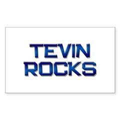 tevin rocks Rectangle Decal