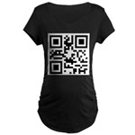 I AM PREGNANT QR code Maternity Dark T-Shirt