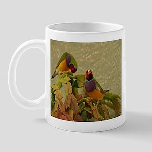 Lady Gouldian Finches Mug