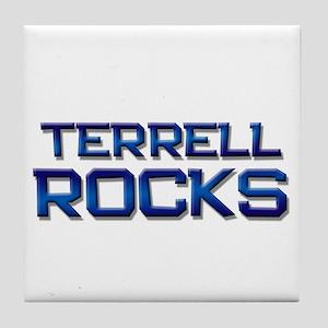 terrell rocks Tile Coaster
