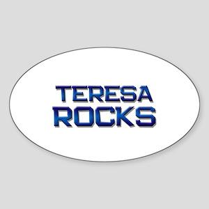 teresa rocks Oval Sticker