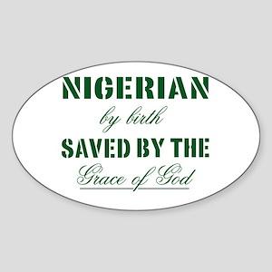 Nigerian Christian Oval Sticker