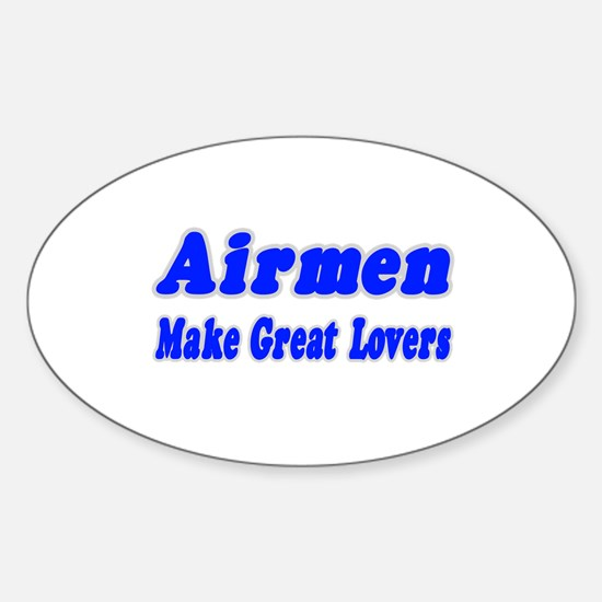 """""""Airmen..Great Lovers"""" Oval Decal"""