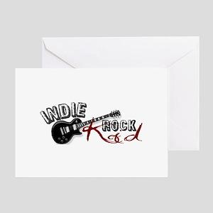Indie Rock Kid (2009) Greeting Card