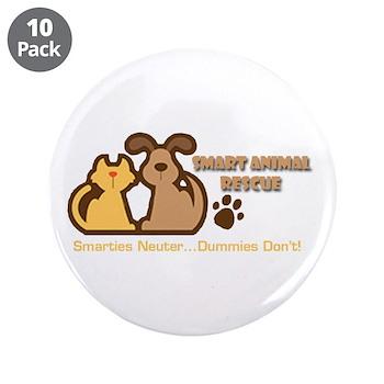 "Smart Petz Animal Rescue 3.5"" Button (10 pack"