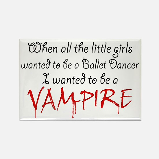 Be a Vampire Rectangle Magnet