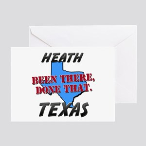 heath texas - been there, done that Greeting Card