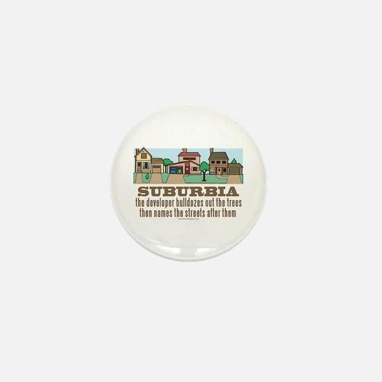 Suburban Sprawl Mini Button