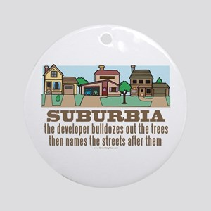 Suburban Sprawl Ornament (Round)