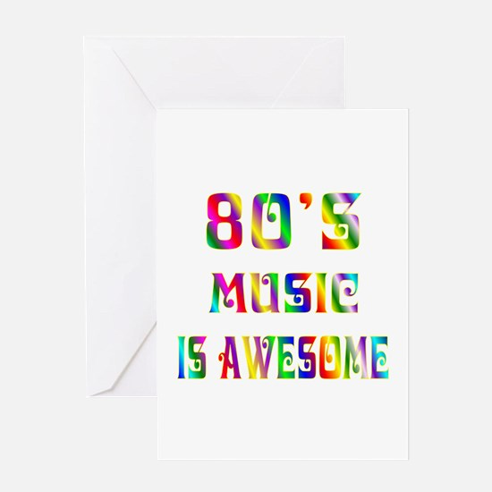 80's Music Greeting Card