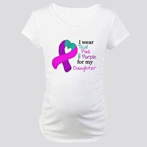 I WEAR TRI for my Daughter Maternity T-Shirt