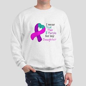 I WEAR TRI for my Daughter Sweatshirt