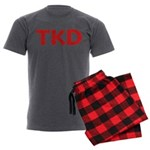 TKD TaeKwonDo Men's Charcoal Pajamas