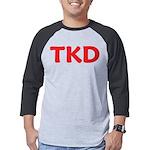 TKD TaeKwonDo Mens Baseball Tee