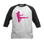 Karate Girl Kids Baseball Tee