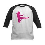 Karate Girl Kids Baseball Tee