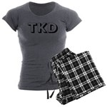 Tae Kwon Do TKD Women's Charcoal Pajamas