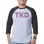 Taekwondo TKD Mens Baseball Tee
