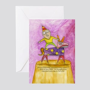 """""""Live a Lot"""" Greeting Cards (Pk of 20)"""