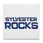 sylvester rocks Tile Coaster