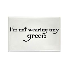Not Green Rectangle Magnet (10 pack)