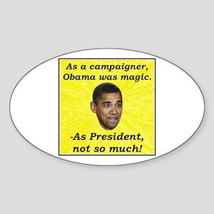 """""""Obama Magic"""" Oval Sticker"""