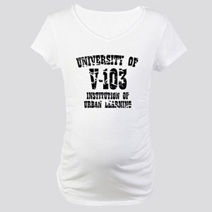 University of V-103 Maternity T-Shirt