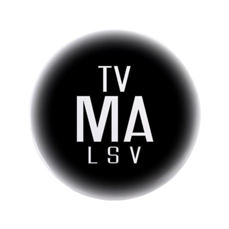 """TV-MA 3.5"""" Button (100 pack)"""