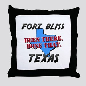 fort bliss texas - been there, done that Throw Pil
