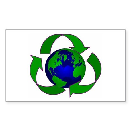 Earth Rectangle Sticker