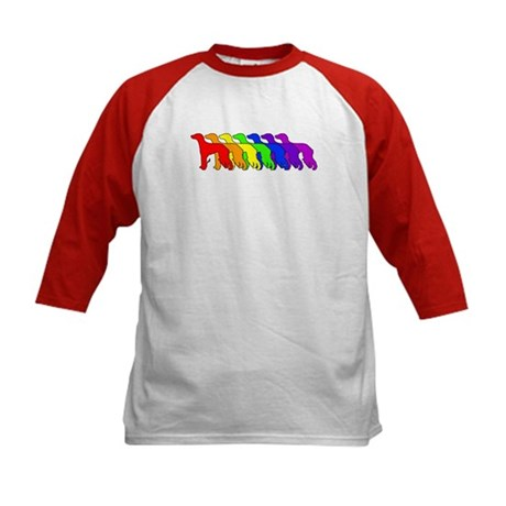 Rainbow Saluki Kids Baseball Jersey