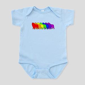 Rainbow Schipperke Infant Bodysuit