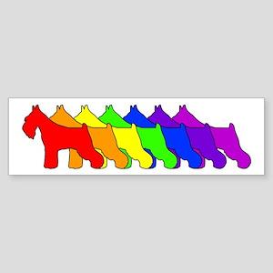 Rainbow Schnauzer Bumper Sticker