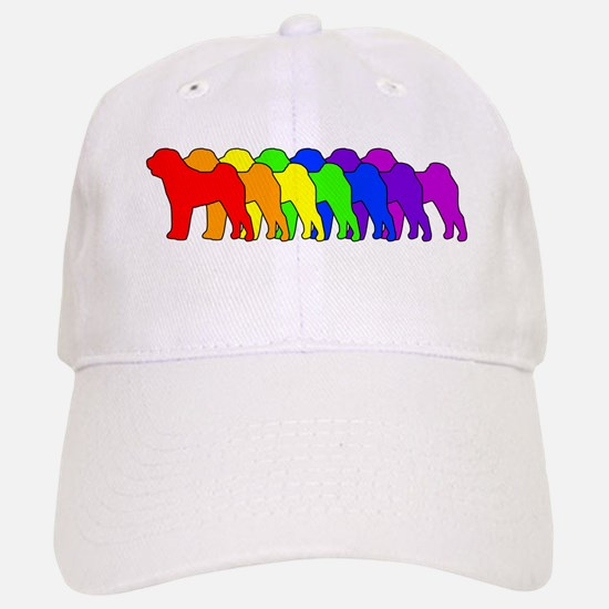 Rainbow Shar Pei Baseball Baseball Cap
