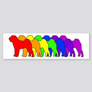 Rainbow Shar Pei Bumper Sticker