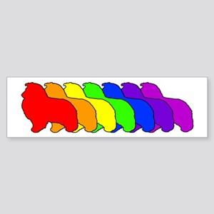 Rainbow Sheltie Bumper Sticker