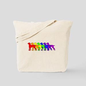 Rainbow Weimaraner Tote Bag