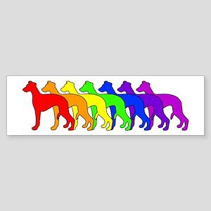 Rainbow Whippet Bumper Sticker