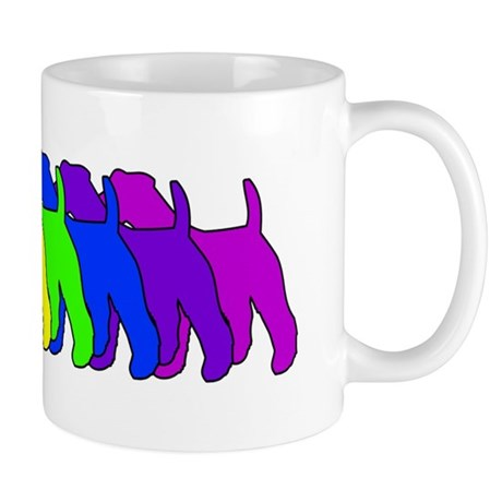 Rainbow Wire Fox Mug