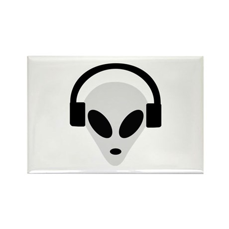 DJ Alien Rectangle Magnet (10 pack)