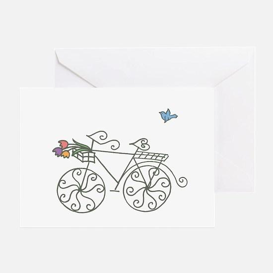 Garden Bike Greeting Card