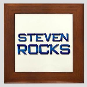 steven rocks Framed Tile