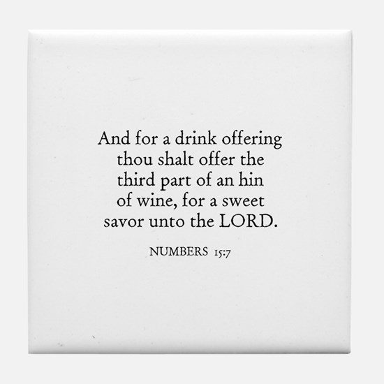 NUMBERS  15:7 Tile Coaster