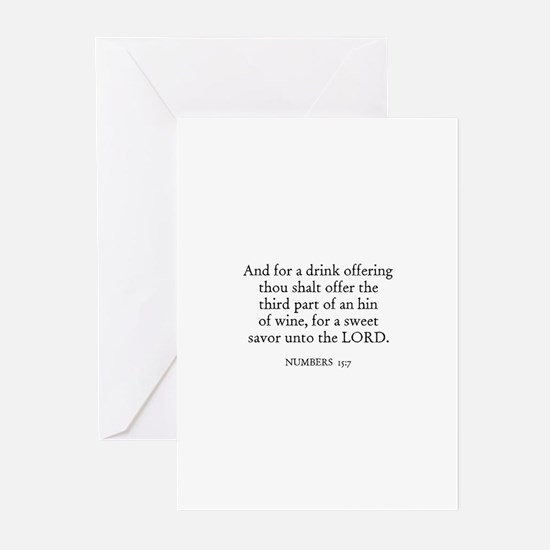 NUMBERS  15:7 Greeting Cards (Pk of 10)